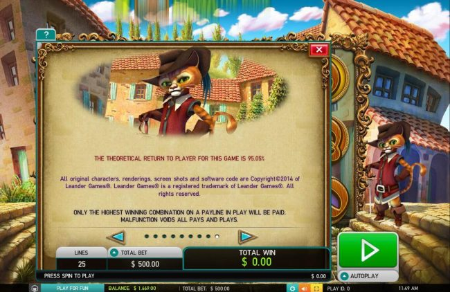 HippoZino featuring the Video Slots The Master Cat with a maximum payout of $30,000
