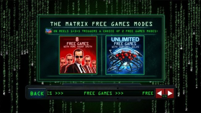 Class 1 Casino featuring the Video Slots The Matrix with a maximum payout of $225,000