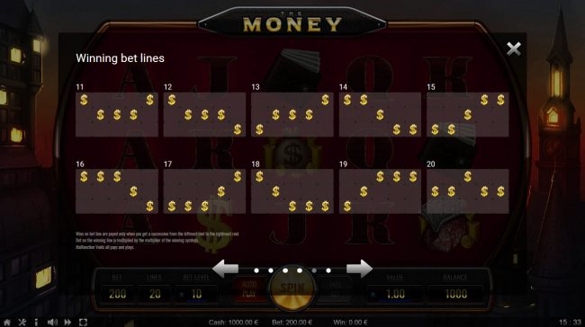 The Money :: Paylines 11-20
