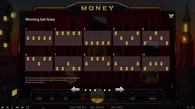 The Money :: Paylines 1-10