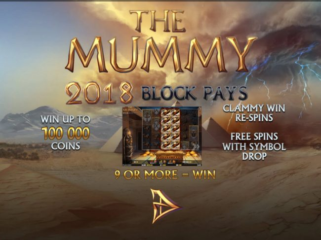All Wins Casino featuring the Video Slots The Mummy 2018 with a maximum payout of $100,000