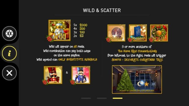 The Nutcracker :: Wild and Scatter Symbols Rules and Pays