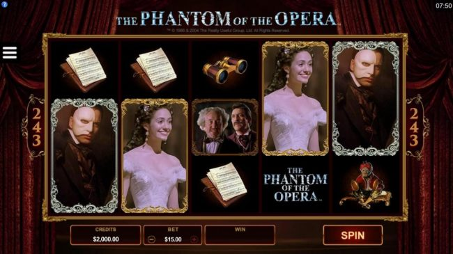 Play slots at Bet Phoenix: Bet Phoenix featuring the Video Slots The Phantom of the Opera with a maximum payout of $116,000