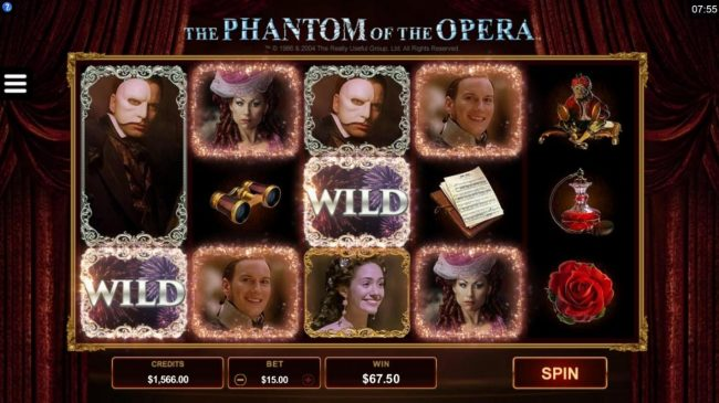 Mummys Gold featuring the Video Slots The Phantom of the Opera with a maximum payout of $116,000