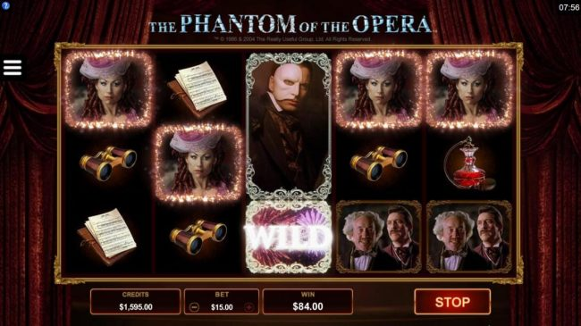Yukon Gold featuring the Video Slots The Phantom of the Opera with a maximum payout of $116,000