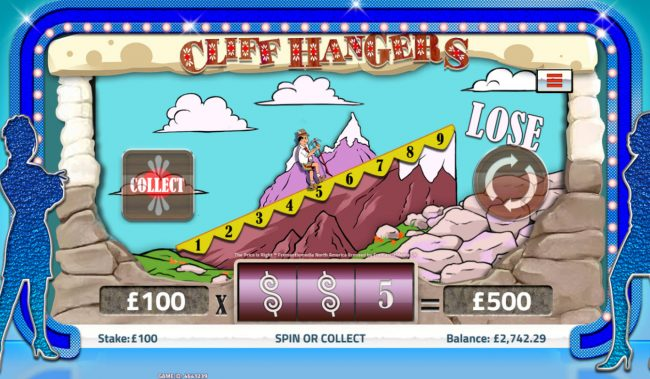 Cliff Hanger Bonus Game
