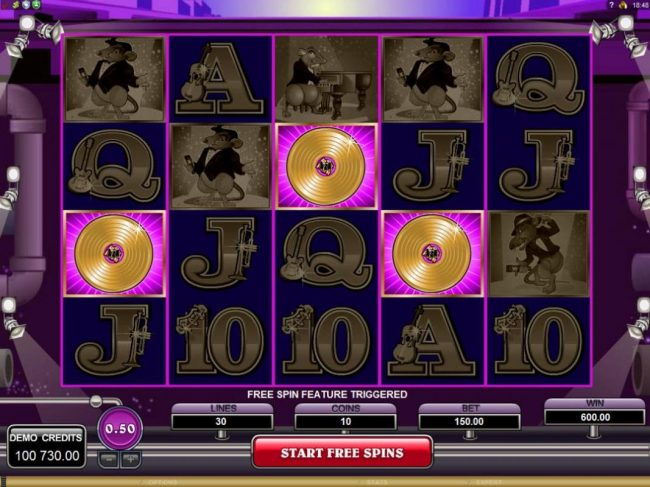 Lucky Emperor featuring the Video Slots The Rat Pack with a maximum payout of $150,000