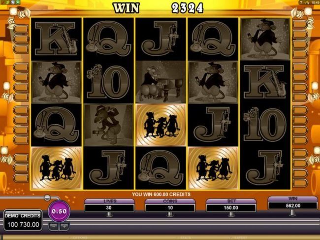 Quatro featuring the Video Slots The Rat Pack with a maximum payout of $150,000