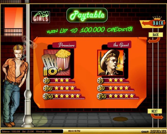 Tangiers featuring the Video Slots The Rebel with a maximum payout of $125,000