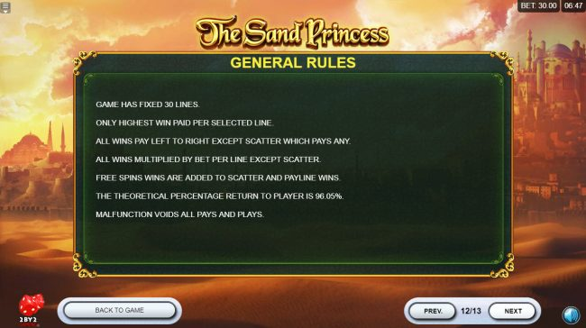 Intercasino featuring the Video Slots The Sand Princess with a maximum payout of $60,000