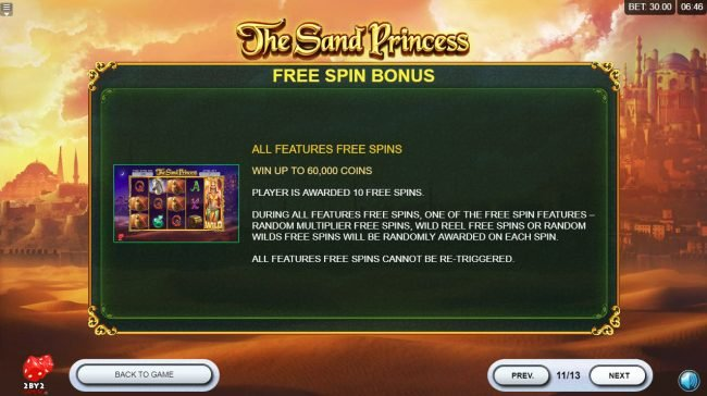 Lucky Me Slots featuring the Video Slots The Sand Princess with a maximum payout of $60,000