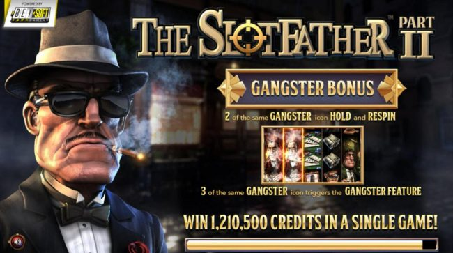 Play slots at Wager Web: Wager Web featuring the Video Slots The Slotfather II with a maximum payout of $1,210,500