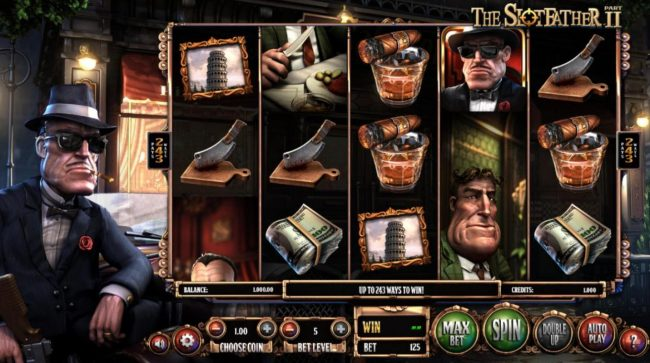 Big Spin featuring the Video Slots The Slotfather II with a maximum payout of $1,210,500