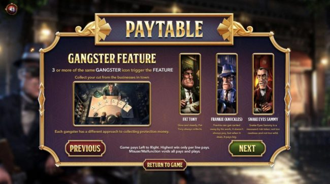 TheBesCasino featuring the Video Slots The Slotfather II with a maximum payout of $1,210,500