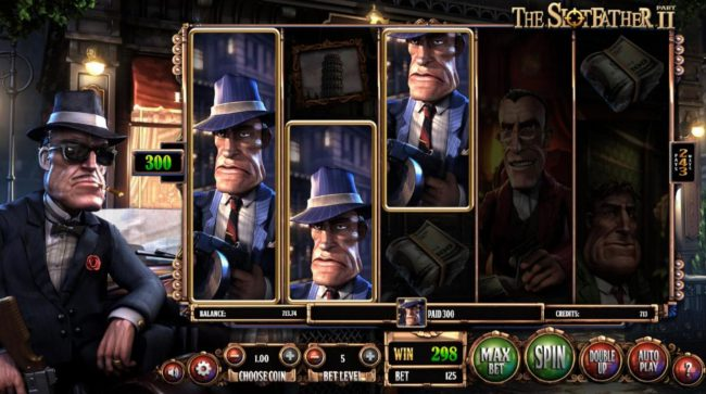 Neder featuring the Video Slots The Slotfather II with a maximum payout of $1,210,500