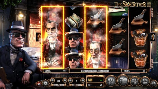Campeon featuring the Video Slots The Slotfather II with a maximum payout of $1,210,500