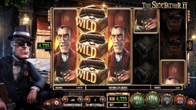 Money Storm featuring the Video Slots The Slotfather II with a maximum payout of $1,210,500