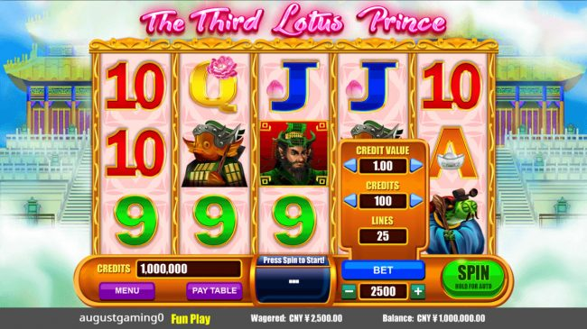 Play slots at Ego Casino: Ego Casino featuring the Video Slots The Third Lotus Prince with a maximum payout of $250,000