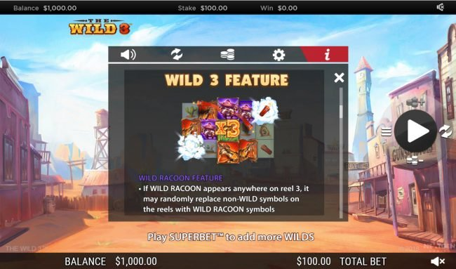 Play slots at Dreamy 7: Dreamy 7 featuring the Video Slots The Wild 3 with a maximum payout of $250,000