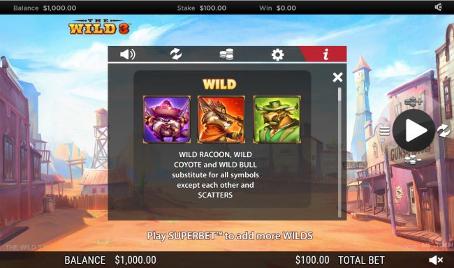 The Wild 3 :: Wild Symbol Rules