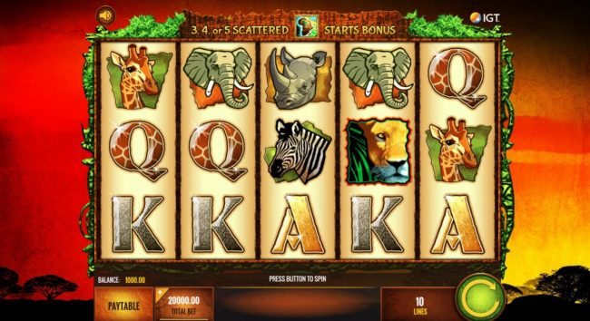 888 Casino featuring the Video Slots The Wild Life with a maximum payout of $25,000,000