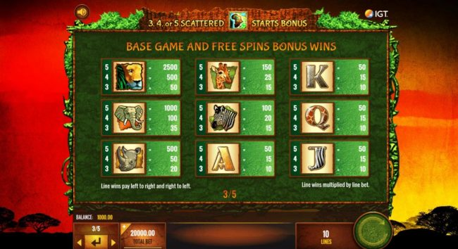 Moon Games featuring the Video Slots The Wild Life with a maximum payout of $25,000,000