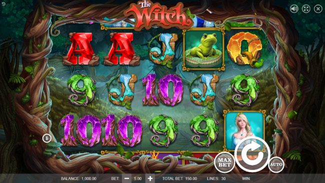 Play slots at Split Aces: Split Aces featuring the Video Slots The Witch with a maximum payout of $45,000