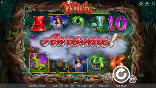 LaFiesta featuring the Video Slots The Witch with a maximum payout of $45,000