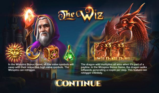 Casino Superlines featuring the Video Slots The Wiz with a maximum payout of $500,000