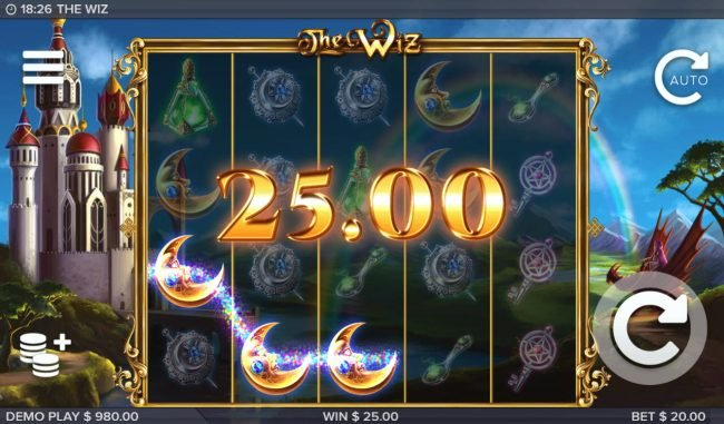 Lightbet featuring the Video Slots The Wiz with a maximum payout of $500,000