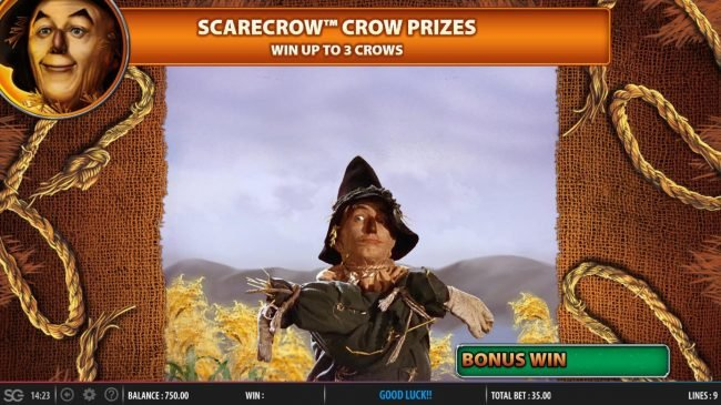 Scarecrow Crow Prozes Game Board - Win up to 3 crows