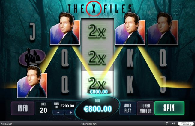 MANSION featuring the Video Slots The X Files with a maximum payout of $5,000