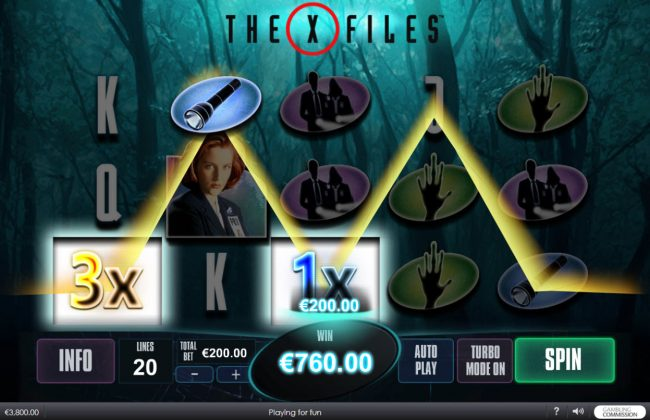 Casino Lucky Win featuring the Video Slots The X Files with a maximum payout of $5,000