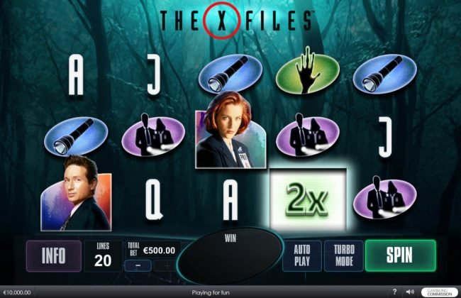 Joyland Casino featuring the Video Slots The X Files with a maximum payout of $5,000