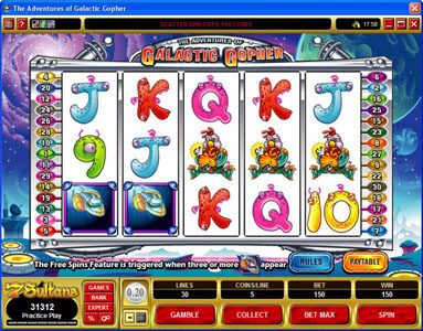 Players Palace featuring the Video Slots The Adventures of Galatic Gopher with a maximum payout of $37,500