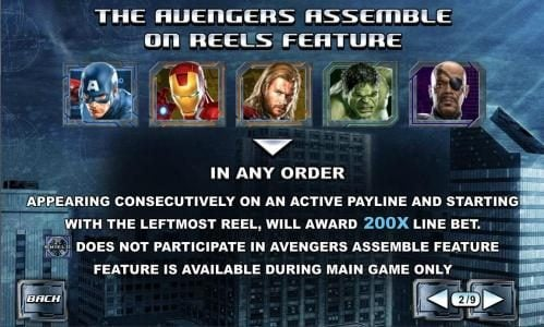 the avengers assemble on reels feature rules