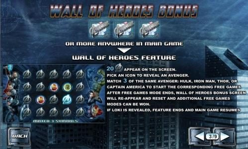 wall of hereos bonus rules