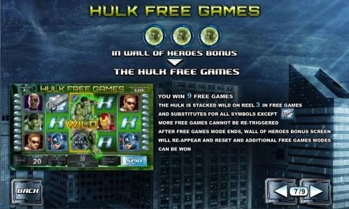 hulk free games feature rules