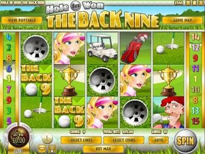 Golden Lion featuring the Video Slots The Back Nine with a maximum payout of $3,750