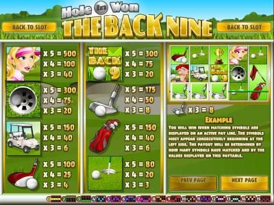 Play slots at Slots Jackpot: Slots Jackpot featuring the Video Slots The Back Nine with a maximum payout of $3,750