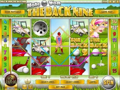 Sahara Sands featuring the Video Slots The Back Nine with a maximum payout of $3,750
