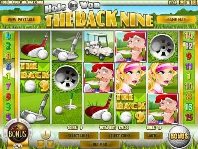 This Is Vegas featuring the Video Slots The Back Nine with a maximum payout of $3,750