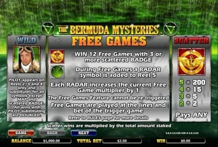 Vera&John featuring the Video Slots The Bermuda Mysteries with a maximum payout of $20,000