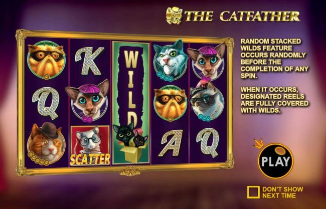 Play slots at Mayflower: Mayflower featuring the Video Slots The Catfather with a maximum payout of $25,000