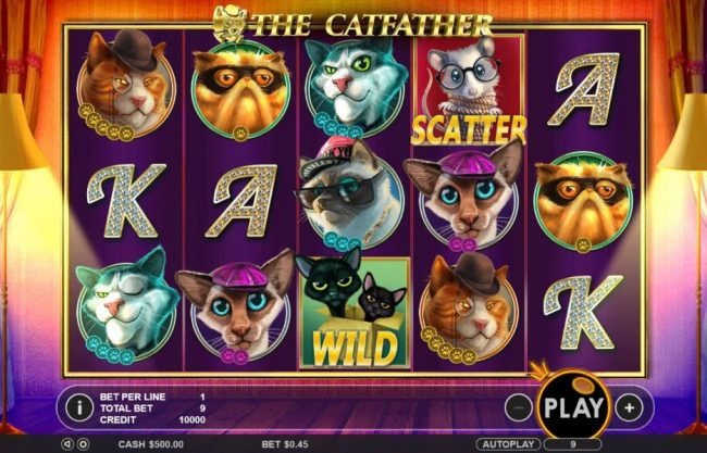 Crystal Casino Club featuring the Video Slots The Catfather with a maximum payout of $25,000