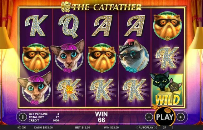 Play slots at Rich Casino: Rich Casino featuring the Video Slots The Catfather with a maximum payout of $25,000