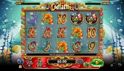 CasinoCasino featuring the Video Slots The Codfather with a maximum payout of $20,000