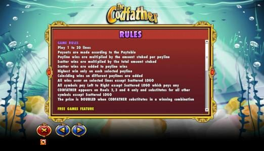 Trada featuring the Video Slots The Codfather with a maximum payout of $20,000