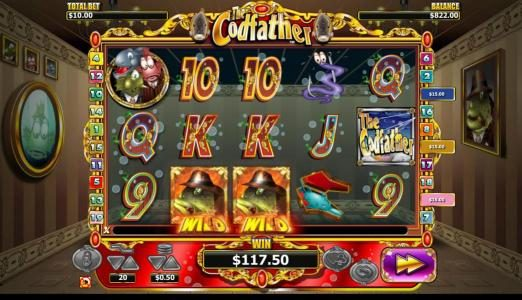 TS featuring the Video Slots The Codfather with a maximum payout of $20,000