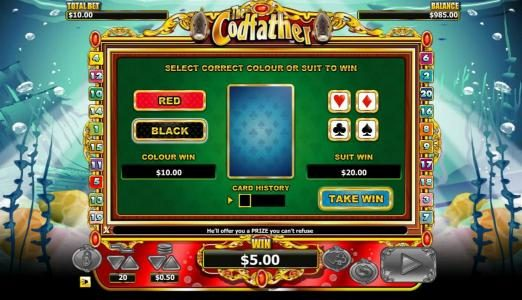PropaWin featuring the Video Slots The Codfather with a maximum payout of $20,000